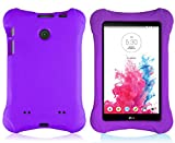 Bolete LG G Pad 7.0 EVA Case – Ultra Light Weight Shock Proof Convertible Kids Friendly for LG G Pad V410 (LTE) / V400 / VK410 / UK410 (G Pad F7.0) 7-Inch Android Tablet(Purple)