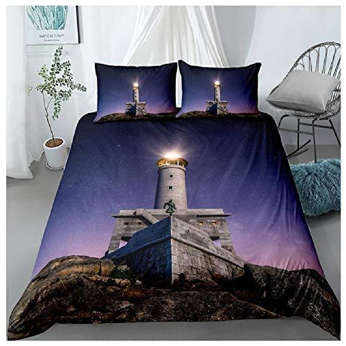 BAIYANG Landscape Bedding Set Scenictree Sun Comforter Sets Queen King Size Duvet Cover Pillowcases Home Bedroom Decor 3D Double(200x200cm)