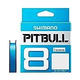 シマノ(SHIMANO) PEライン ピットブル 8本編み 200m 2.0号 スーパーブルー 42.8lb PL-M68R 釣り糸 ライン 2号