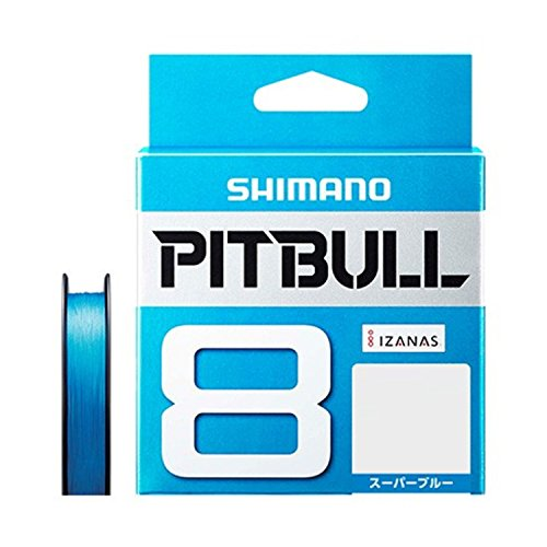 シマノ(SHIMANO) PEライン ピットブル 8本編み 200m 1.0号 スーパーブルー 22.4lb PL-M68R