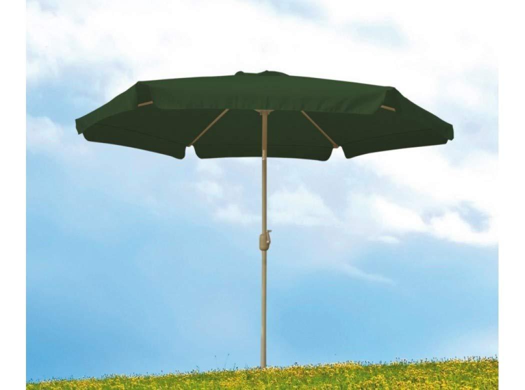 sol-jardin Parasol 3 Metros con FALDON Tubo 38MM Aluminio Color Verde: Amazon.es: Bricolaje y herramientas