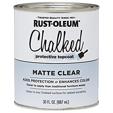 Rust-Oleum 287722 Ultra Matte Interior Chalked Paint 30 oz, Clear