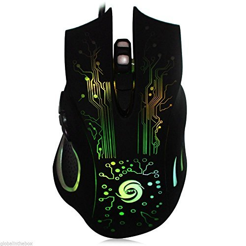 XENO-Gaming Mouse Mice 6 Buttons DPI Adjustable Computer Optical USB Wired 7 colors