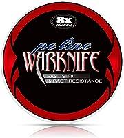 Warknife 釣りライン PEライン 釣り糸 X8 150m 8本編み 8編 レッド&ホワイト