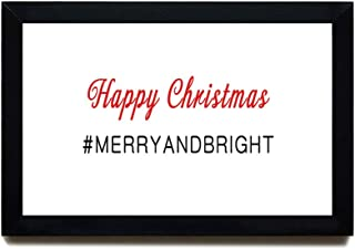 Blafitance Wood Framed Signs Christmas Sign Merry and Bright Sign Fun Christmas Sign Hashtag Sign Pack of Christmas Signs ...