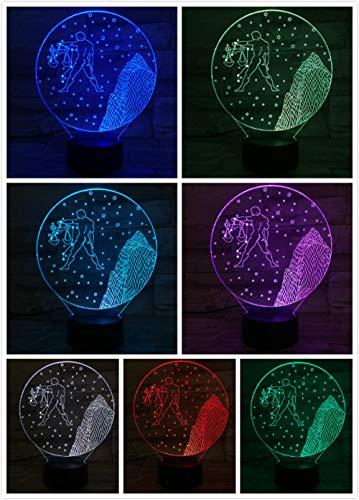 Nachtlampje Twaalf Sterrenbeeld Weegschaal-aanraken Klein Nachtlampje 7 Kleuren Touch Optische Foto Tafel Decoratie Lamp, Geschikt Voor Slaapkamer Bar Sfeerlamp