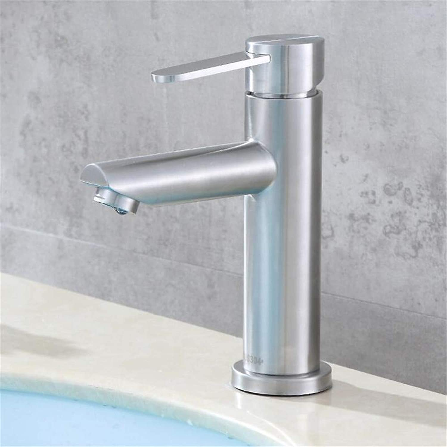 304 Stainless Steel Single Hole hot and Cold Basin Faucet Bathroom washbasin washbasin Mixer