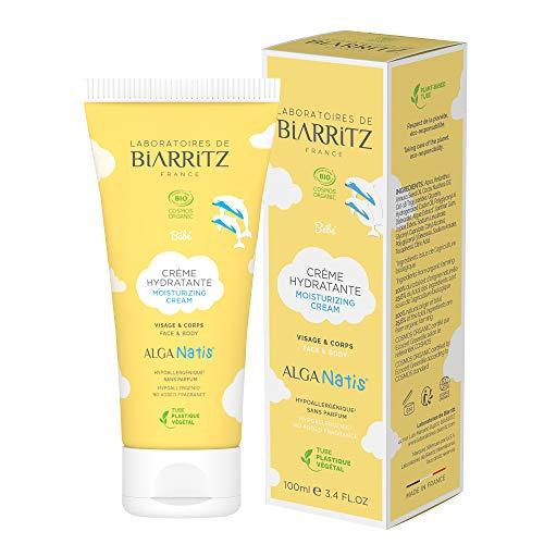 Laboratoires de Biarritz - Crème Hydratante pour Bébé - ALGA NATIS® Certifiée Bio - Apporte Confort, Douceur et Apaisement - 100 ml - Fabriqué en France