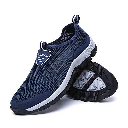 Aerlan Gym Shoes Lightweight Shoes,Botas de montaña Deportivas,Zapatos de Senderismo Zapatos al Aire Libre Zapatos de Senderismo Transpirables Zapatos Deportivos Casuales para Hombre-Blue_41#