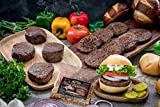 Butcher's Choice Gift Box 4 (6 oz.) Filet Mignons & 8 (4 oz.) Angus Beef Steak Burgers - Wet Aged Filet Mignons and Angus Beef Burgers Gift Set with 1 Pack Steak Seasoning - Home-made Grilled Steak