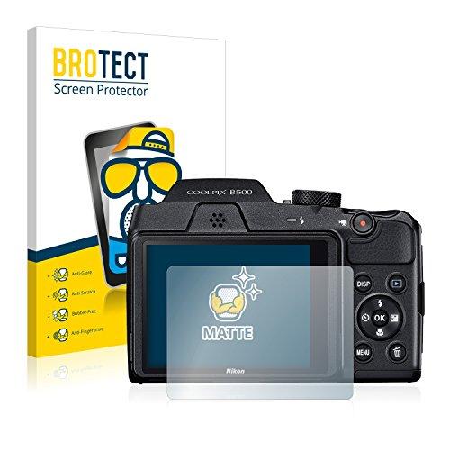 BROTECT Protector Pantalla Anti-Reflejos Compatible con Nikon Coolpix B500 (2 Unidades) Pelicula Mate Anti-Huellas