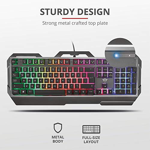Trust Gaming GXT 856 Torac Metallene Gaming Tastatur mit Deutsches QWERTZ-Layout