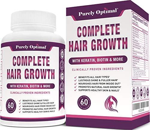Premium Hair Growth for Women Men Hair Growth Vitamins w Biotin Keratin Prevents Hair Loss Thinning product image