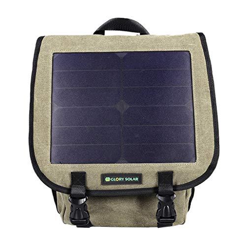 Tubayia Wasserdicht Wanderrucksack Rucksack mit Solarmodul für Camping, Wandern, Radfahren, Klettern (Braun)