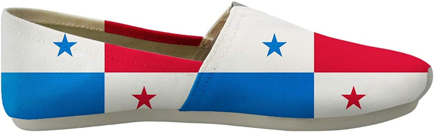 Owaheson Classic Canvas Slip-On Lightweight Driving shoes Soft Penny Loafers Men Women Panama Flag