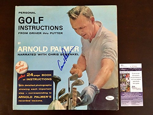 Save %36 Now! Arnold Palmer Signed Golf Instruction LP Record Album Coa - JSA Certified - Autographe...