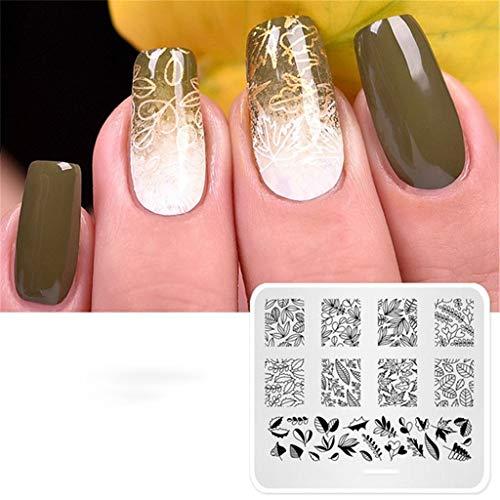 Nagel-Kunst-Platten-Schablonen-Maniküre-Werkzeug 1Pcs Rechteckig Für Die Dekoration, Design, Muster,M