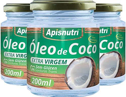 Óleo De Coco Extra Virgem 200Ml, Apisnutri
