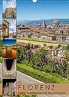 FLORENZ Impressionen bei Tag und Nacht (Wandkalender 2022 DIN A3 hoch): Idylle und prachtvolle Bauten (Monatskalender, 14 Seiten )