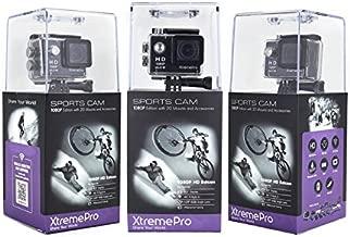 XtremePro 1080p HD WiFi Action Camera & 20 Accessory Bundle XP1080