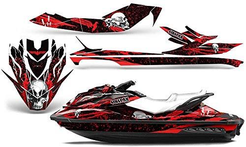 Savage Kits Jet Ski Graphics kit Sticker Decal Compatible with Sea-Doo GTI GTR GTS 2011-2014 - Rebirth Red
