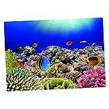 KESOTO Aquarium Fisch Tank Hintergrund Selbstklebend Aufkleber Wandaufkleber - 76 x 56 cm