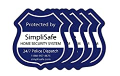 """Pack of 5 Widnow Decals for SimpliSafe Home Security System Make it loud and clear that you're protected with 24/7 Police Dispatch They measure 3""""x 3"""" and are made from 5 window decals in each pack."""