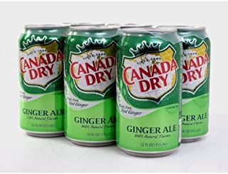 12- Cans of Canada Dry Ginger Ale Soda 100% Natural Flavours 355ml, 12 Oz, Each Can. Made in Canada