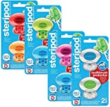 Steripod Clip-On Toothbrush Protector, Multicolor, 8 Count