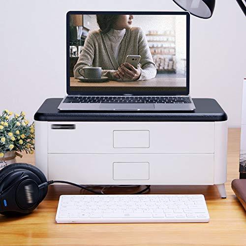 Monitor Stand TV PC Laptop Computer Screen Riser Bureau Opslag 2 lagen - (Single Layer Double Layer) Double layer Kleur: wit