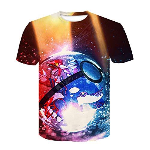 T-fashion shop Celebridad de Internet Mismo Estilo,Fútbol 3D Impresión Digital Cuello Redondo Camiseta Tendencia de Verano Manga Corta-4_L