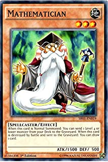 YU-GI-OH! - Mathematician (SR01-EN019) - Structure Deck: Emperor of Darkness - Edition - Common