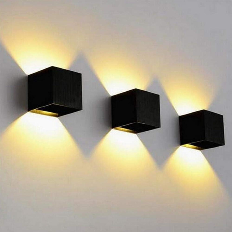 DLKKL Wasserdichte 10W 12W LED Wandleuchte Indoor Outdoor Beleuchtung Kurze Würfel Einstellbare COB LED Wandleuchte Aluminium
