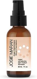 Josie Maran Argan Matchmaker Serum Foundation - Chameleon Pigments Match Skin and Provide Age-Defying Coverage - (30ml/1.0oz, Light Medium)