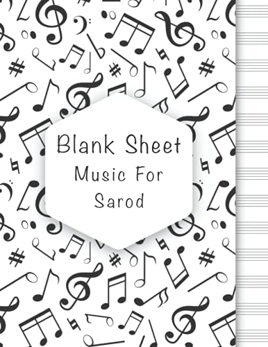 Blank Sheet Music For Sarod: Music Manuscript Paper, Clefs Notebook, composition notebook, Blank Sheet Music Compositio, urban design (8.5 x 11 IN) ... Books Gifts   gifts Standard for students /