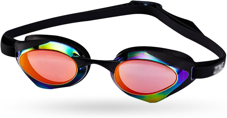 YD Goggles Swimming Glasses Pingguang HD Anti-Fog Waterproof Anti-UV Professional Training Plating Goggles