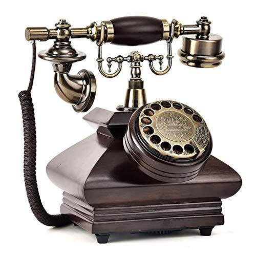 ZARTPMO Dial Giratorio Teléfono Antiguo Teléfono Fijo Fijo Teléfono Hogar Sala de Estar Retro Teléfono Fijo Fijo