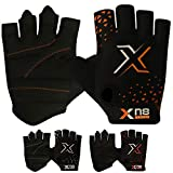 XN8 Weight Lifting Gloves for Gym Training Workout Breathable HALF FINGER Wrist Support- Great for Fitness-Bodybuilding-powerlifting- Strength Training-Weightlifting-Cycling and Exercise