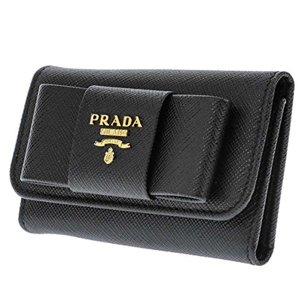 シャッフル無知モールス信号プラダ PRADA キーケース レディース 1PG222S-FIOCCO-NER 財布?小物 キーケース mirai1-533864-ak [並行輸入品] [簡易パッケージ品]