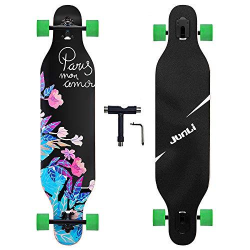 #13. Junli 41 Inch Freeride Longboard Skateboard