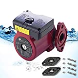 AB WiseWater Circulation Pump, Hot Water Recirculating Pump, 3 Speed Switchable Circulator Pump with Internal Threaded Flanges For Hydronic Radiant Heating, Floor Heating And Other Water Heater System