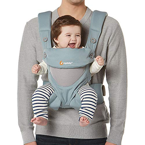 Ergobaby 360 All-Position Baby Carrier with Lumbar Support and Cool Air Mesh, Sea Mist