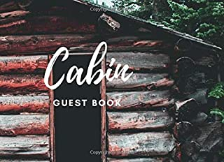 Cabin guest book: country side hut cover for vacation visitor