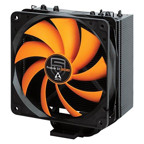 ARCTIC Freezer 33 PENTA - Semi-passiver Tower Prozessorkühler mit 120 mm PWM Prozessor-Lüfter, für Intel und AMD Sockel, empfohlen für TDP bis 150 Watt, CPU-Kühler, hohe Kühlleistung, extrem leise