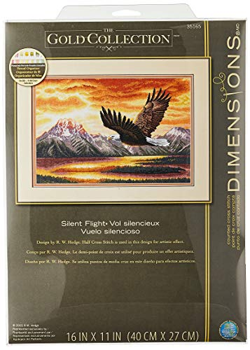Dimensions Gold Collection Counted Cross Stitch Kit, The Silent Flight, 18 Count Beige Aida, 16'' x 11''