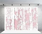 AOFOTO 7x5ft Grunge Faded Pink Wooden Plank Photography Background Rural Weathered Hardwood Vintage Shabby Peeling Wood Board Floor Backdrop Rustic Nostalgia Kid Baby fant Photo Shoot Props Vinyl