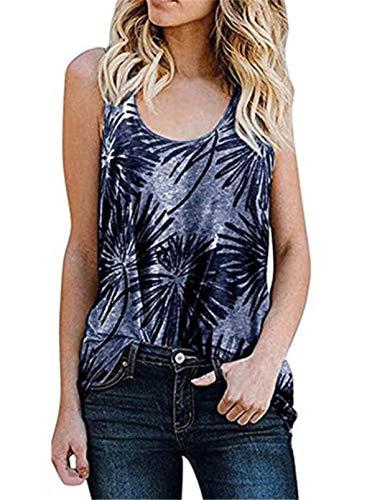 Camiseta sin mangas de verano con estampado de leopardo para mujer