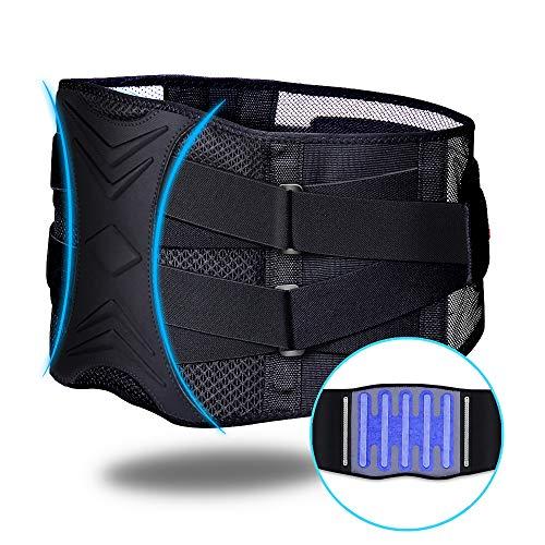 ZHIJING Rückenbandage Rückenstütze Rückengurt mit Stützstreben Bauchbandage Nierenwärmer Herren Rückenstützgurt verstellbare Zuggurte zur Haltungskorrektur zum Arbeitsschutz atmungsaktiv XXL