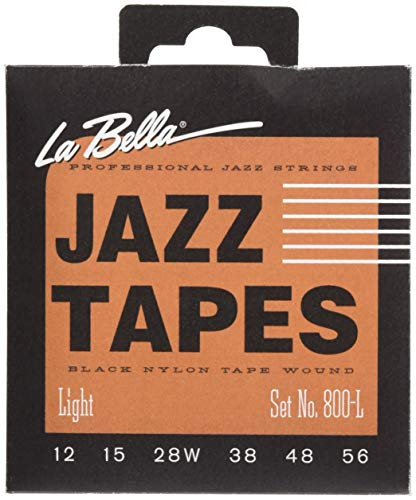 La Bella Jazz Tapes 800 L Negro Nylon