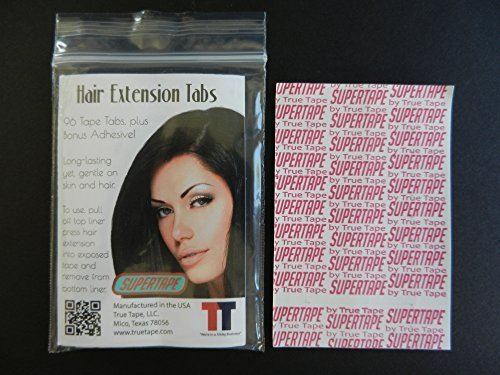 Super Tape Hair Extension Tabs 60 count Pack by Super Tape NEW PACKAGE & NEW LOOK
